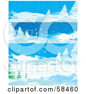 Royalty Free RF Clipart Illustration Of A Digital Collage Of Four Winter Landscape Banners by MilsiArt