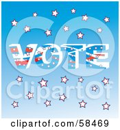 Royalty Free RF Clipart Illustration Of A Patriotic American Vote Background Version 2 by MilsiArt