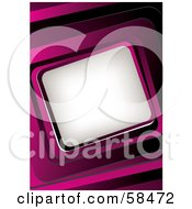Pink 3d Curved Frame Around White Space