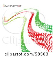 Royalty Free RF Clipart Illustration Of A Red And Green Curvy Line Background With Sample Text