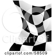 Royalty Free RF Clipart Illustration Of A Waving Race Flag Background On White Version 1