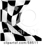 Royalty Free RF Clipart Illustration Of A Waving Race Flag Background On White Version 2