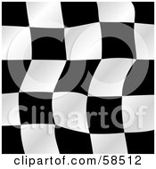 Royalty Free RF Clipart Illustration Of A Waving Race Flag Background On White Version 3