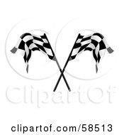Royalty Free RF Clipart Illustration Of A Couple Of Crossed Racing Fags Version 2 by MilsiArt