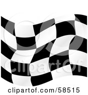 Royalty Free RF Clipart Illustration Of A Waving Race Flag Background On White Version 4