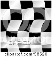 Royalty Free RF Clipart Illustration Of A Waving Race Flag Background On White Version 8