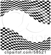 Royalty Free RF Clipart Illustration Of A Waving Race Flag Background On White Version 9