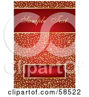 Royalty Free RF Clipart Illustration Of A Beautiful And Elegant Red And Gold Tile Invitation Background