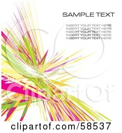 Royalty Free RF Clipart Illustration Of A Green And Pink Watercolor Stroke Background With Sample Text Version 2