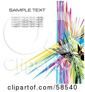 Royalty Free RF Clipart Illustration Of A Colorful Watercolor Stroke Background With Sample Text Version 1