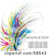 Royalty Free RF Clipart Illustration Of A Colorful Watercolor Stroke Background With Sample Text Version 4