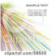 Royalty Free RF Clipart Illustration Of A Colorful Watercolor Stroke Background With Sample Text Version 11