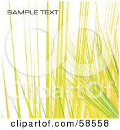 Royalty Free RF Clipart Illustration Of A Yellow Watercolor Stroke Background With Sample Text Version 2
