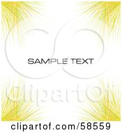 Royalty Free RF Clipart Illustration Of A Yellow Watercolor Stroke Background With Sample Text Version 3