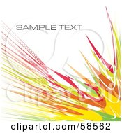 Royalty Free RF Clipart Illustration Of A Colored Watercolor Stroke Background With Sample Text