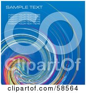 Royalty Free RF Clipart Illustration Of A Rainbow Watercolor Swirl Background With Sample Text Version 1