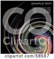 Royalty Free RF Clipart Illustration Of A Rainbow Watercolor Swirl Background With Sample Text Version 4