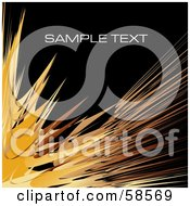 Royalty Free RF Clipart Illustration Of An Orange Watercolor Stroke Background With Sample Text Version 2