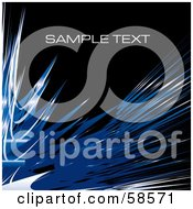 Royalty Free RF Clipart Illustration Of A Blue Watercolor Stroke Background With Sample Text Version 2
