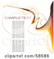 Royalty Free RF Clipart Illustration Of A Wave Of Brown Lines And Paragraphs Of Sample Text Version 2