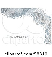Royalty Free RF Clipart Illustration Of A Gray Tile Wave Mosaic Background With Sample Text Version 2