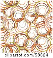 Royalty Free RF Clipart Illustration Of A Background Of Olive Green Brown And Orange Rings On White