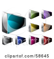 Royalty Free RF Clipart Illustration Of A Digital Collage Of Colorful Angled Rectangular Web Buttons