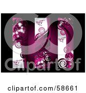 Royalty Free RF Clipart Illustration Of A Digital Collage Of Three Grungy Pink Spiral Banners by MilsiArt