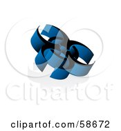 Royalty Free RF Clipart Illustration Of A Blue 3d Virus Biohazard Symbol