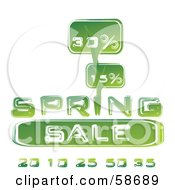 Royalty Free RF Clipart Illustration Of A Green Spring Sale Discount Announcement by MilsiArt