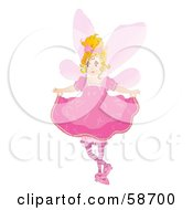Royalty Free RF Clipart Illustration Of A Blond Fairy Holding Up Her Dress by MilsiArt