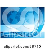 Royalty Free RF Clipart Illustration Of A Blue Atlas And Curve Background by MilsiArt