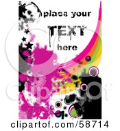 Royalty Free RF Clipart Illustration Of A Splattered Rainbow And Grunge Background With Sample Text
