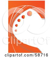 Royalty Free RF Clipart Illustration Of A Background With Orange Dots In White And Orange Borders