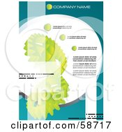 Royalty Free RF Clipart Illustration Of A Green Gear Background Template With Sample Text