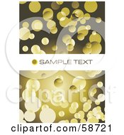 Royalty Free RF Clipart Illustration Of A Background Of Yellow Bubbles On Brown With A Text Bar