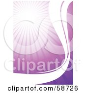 Royalty Free RF Clipart Illustration Of A Bursting Purple Background With White Waves by MilsiArt