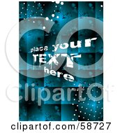 Royalty Free RF Clipart Illustration Of A Grungy Blue Tile Background With Sample Text