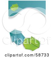 Royalty Free RF Clipart Illustration Of A Design Template With Blue Borders And Arrows