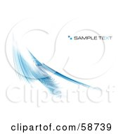 Royalty Free RF Clipart Illustration Of A Blue Ripple On White With Sample Text