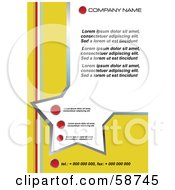 Royalty Free RF Clipart Illustration Of A Yellow Star Template With Sample Text by MilsiArt