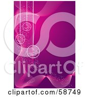 Purple And Pink Christmas Background With Ornaments by MilsiArt