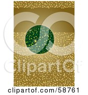 Royalty Free RF Clipart Illustration Of A Green Disco Ball With A Gold Tile Glitter Background And A Text Bar by MilsiArt