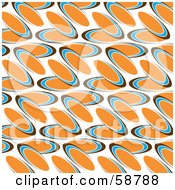 Royalty Free RF Clipart Illustration Of An Abstract Background Of Orange Blue And Brown Ovals On White