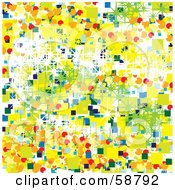 Royalty Free RF Clipart Illustration Of An Abstract Background Of Colorful Squares Circles And Sparkles