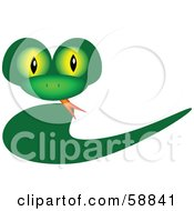 Green Snake With A Swoosh Body