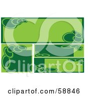 Royalty Free RF Clipart Illustration Of A Digital Collage Of Square And Rectangular Blank Green Banners Version 1