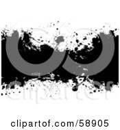 Royalty Free RF Clipart Illustration Of A Black And White Ink Splatter Background Version 3 by michaeltravers