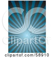 Royalty Free RF Clipart Illustration Of A Background Of A Blue Grunge Burst Of Light Rays Version 1 by michaeltravers