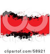 Royalty Free RF Clipart Illustration Of A Red And Blank Ink Grunge Splatter Text Box On White by michaeltravers